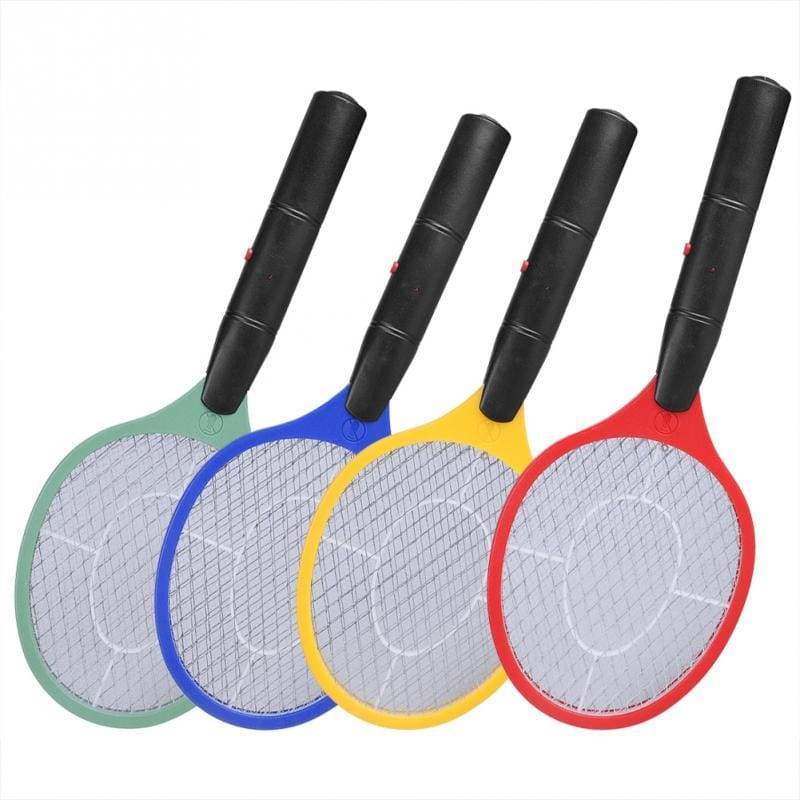 Home Electric Fly Mosquito Swatter Mosquito Killer Bug Zapper Racket Insects Killer Cordless Battery - My Web Store Shopping
