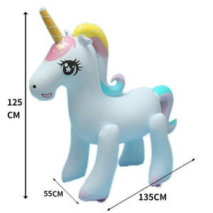 Load image into Gallery viewer, Rooxin 135cm Inflatable Unicorn Water Spray Pool Toys Swimming Float Outdoor Fountain Beach Party - My Web Store Shopping