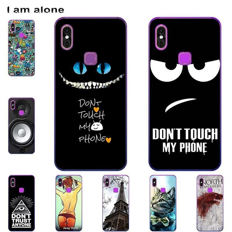 I am alone Phone Bags For Leagoo M13 6.1 inch Solf TPU Cases Fashion Mobile For Leagoo M13 Cover - My Web Store Shopping