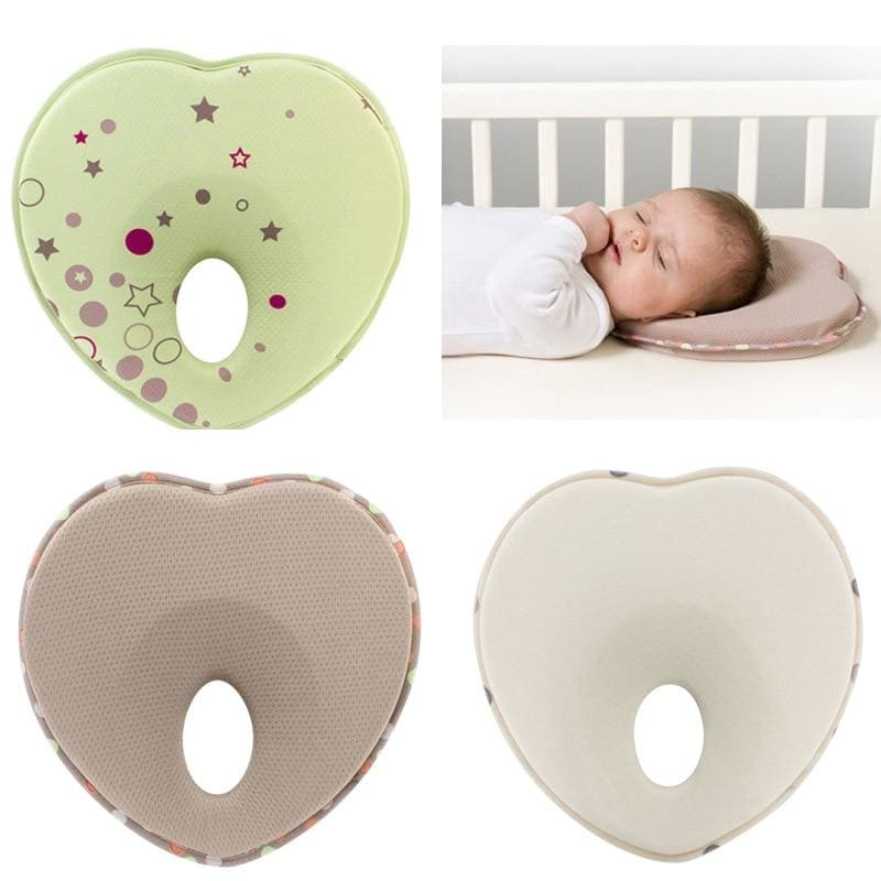 Infant head support kids shaped rest sleep positioned anti roll cushion nursing baby pillow to - My Web Store Shopping