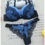 ABC 2017 Sexy Lace Women Push Up Bra Sets Hollow out thongs Bra Brief Sets French Romantic Intimate - My Web Store Shopping