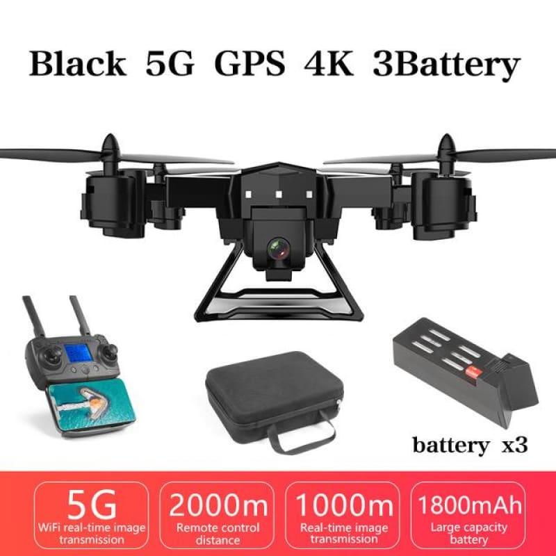 KY601G FPV WIFI GPS Drone 2000 Meters Control Distance RC Helicopter Drone with 5G 4K HD Camera Quadcopter Foldable - My Web Store Shopping