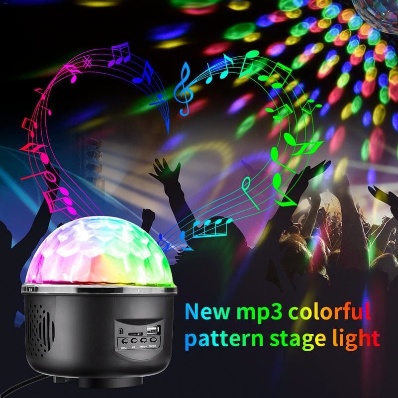 Digital LED Music Crystal Magic Ball Effect Light MP3 USB DJ Stage Lighting+Remote Control - My Web Store Shopping