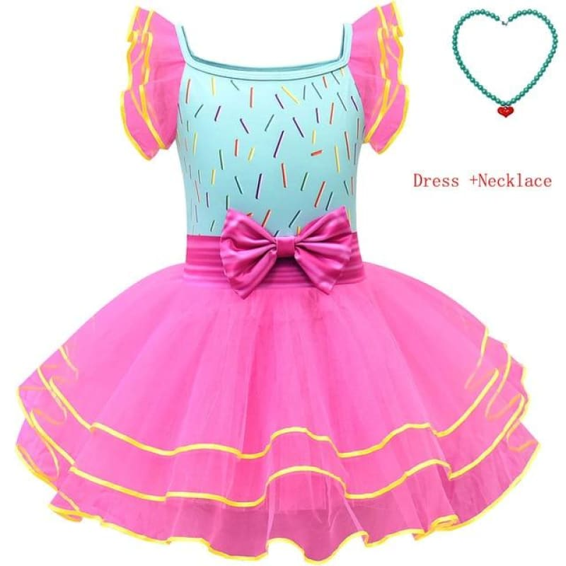 Load image into Gallery viewer, Kids Child Fancy Dress+Necklace Party Halloween Costume Nancy Costume Tutu Dress Infant Toddler - My Web Store Shopping