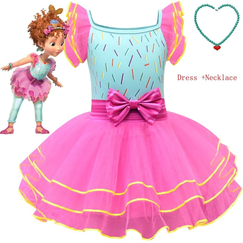 Kids Child Fancy Dress+Necklace Party Halloween Costume Nancy Costume Tutu Dress Infant Toddler - My Web Store Shopping