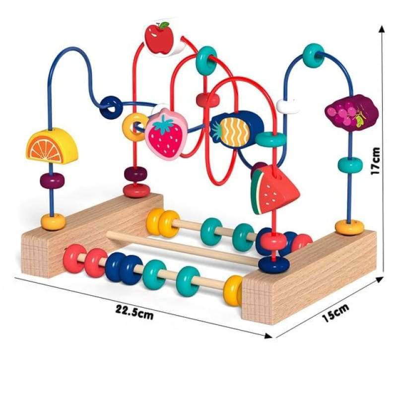 Kids Toys Montessori Wooden Toys Maze Circles Around Beads Abacus Math Toys Puzzle Early Learning - My Web Store Shopping