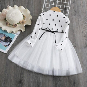Load image into Gallery viewer, Knitted Girls Full Sleeve Dress Sequined Tulle Princess Baby Casual Wear - My Web Store Shopping