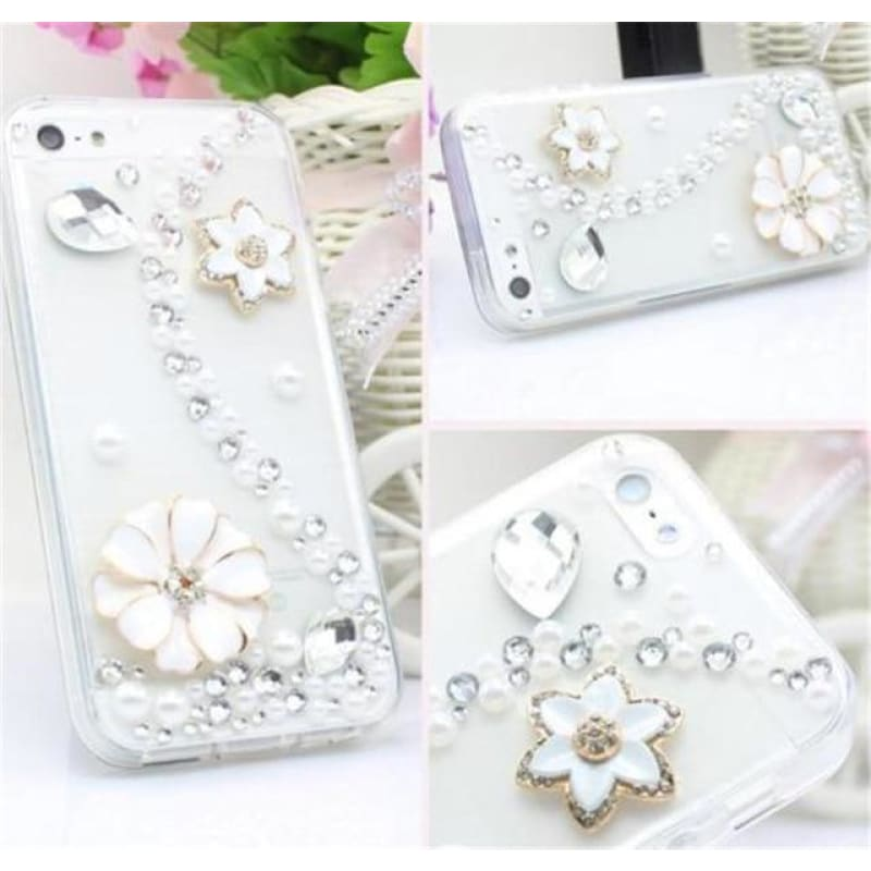 Load image into Gallery viewer, Diamond Rhinestone Phone Case For Love Heart Butterfly Cover - My Web Store Shopping