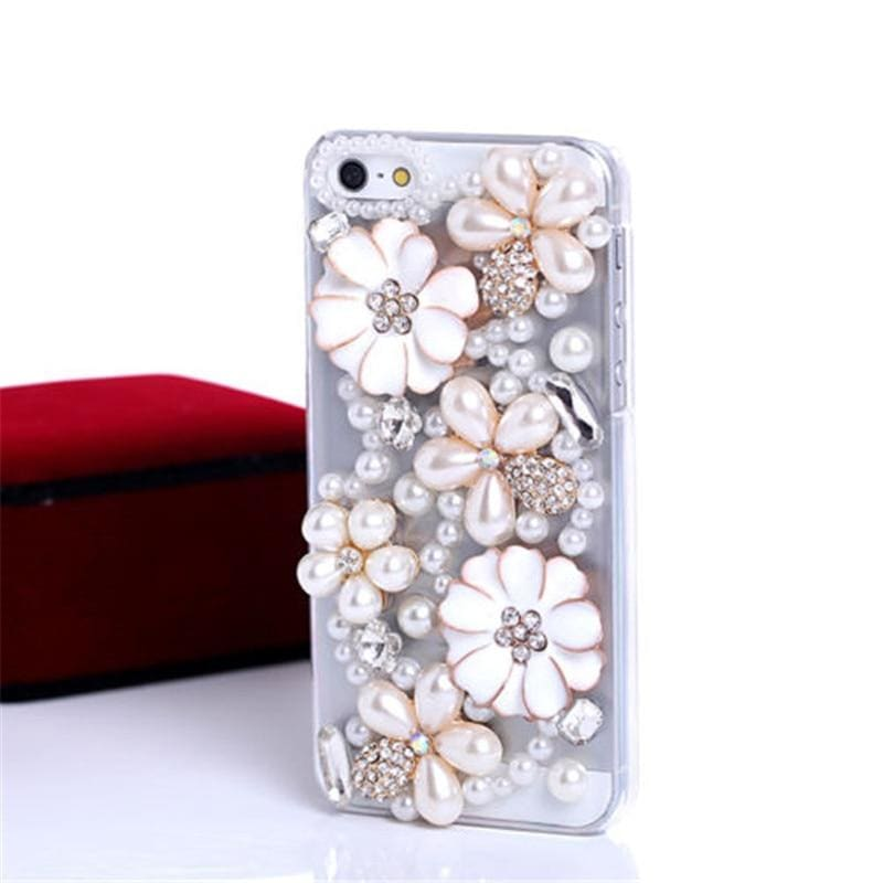 Diamond Rhinestone Phone Case For Love Heart Butterfly Cover - My Web Store Shopping