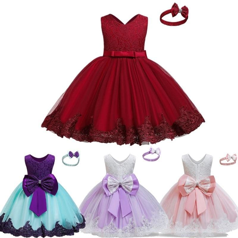 Lace Princess Dress for Kids Dresses Girls Wedding Party Girls Dress Children - My Web Store Shopping