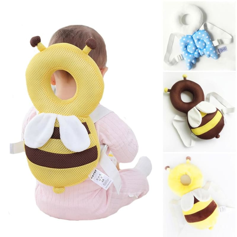 Large Baby Head Protection Pad Toddler Headrest Pillow Neck Cute Wings Nursing Drop Resistance - My Web Store Shopping