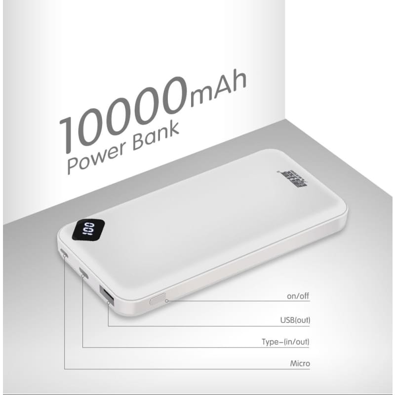 Leise Power Bank 10000mAh Portable USB External Battery For Xiaomi Mi 9 8 iPhone - My Web Store Shopping