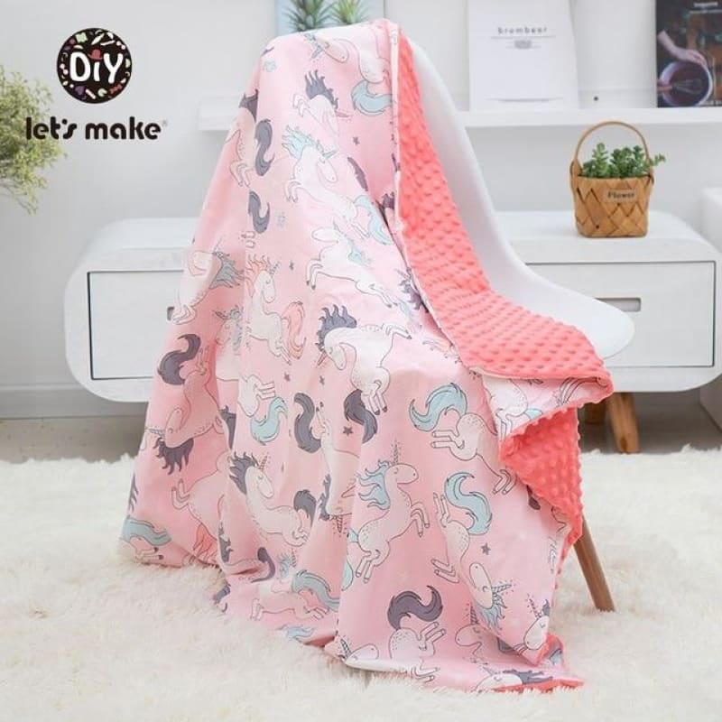 Baby Blanket 1PC Muslin Squares Swaddle Wrap Fiber Newborn Soft Cartoon Knitted Children's Blanket - My Web Store Shopping