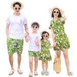 Love Mama Mother Daughter Dresses Green Leaf  Family Matching Clothes - My Web Store Shopping