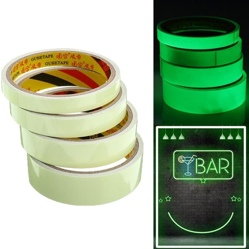 Luminous Tape Self-adhesive Glow In The Dark Safety Stage Home Decorations Stricking Warning Tape - My Web Store Shopping