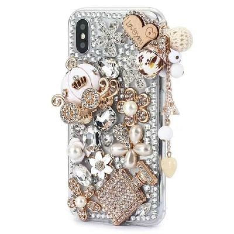 Luxury Crystal Rhinestone Diamond Pumpkin Car Bling Case Cover - My Web Store Shopping