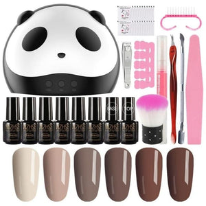 Load image into Gallery viewer, Nail Art Set Gel Nail Kits With 36W UV LED Lamp Dryer 6 pcs Gel Nail Polish Set Kit Nail Tools All - My Web Store Shopping