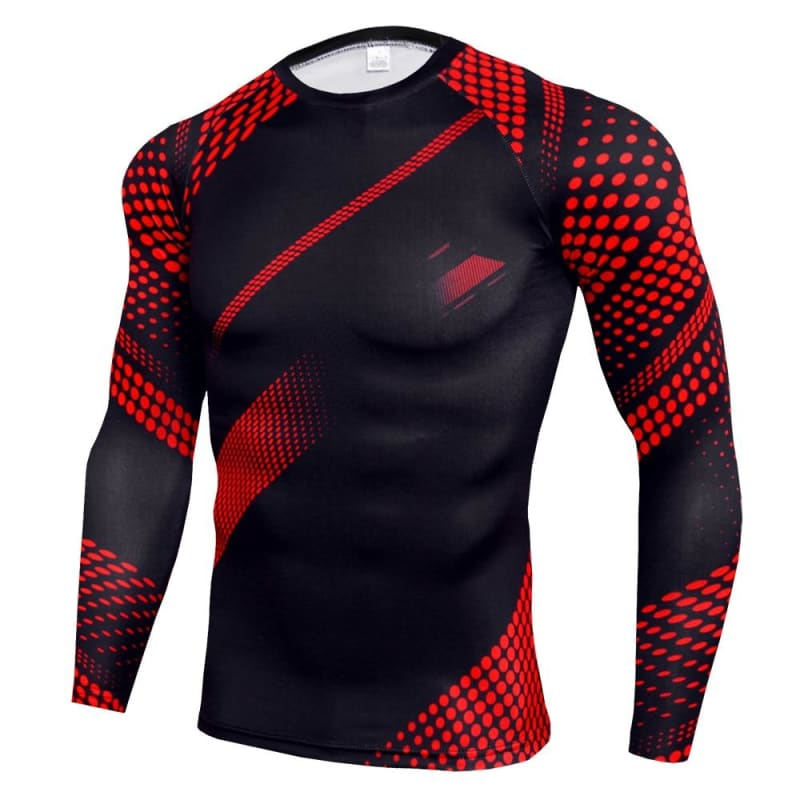 Compression Shirts Men Workout Joggers Tshirt Skinny Elastic Tracksuit Sportswear Fitness T Shirt - My Web Store Shopping