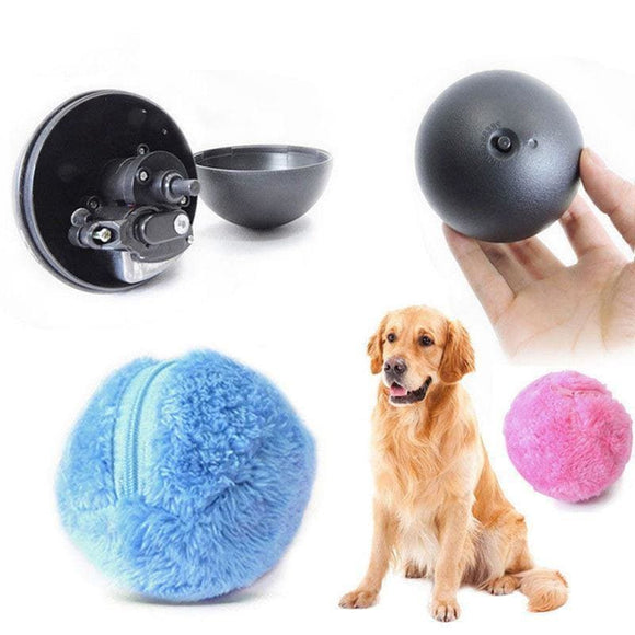 Magic Ball Dog Cat Toy Activation Automatic Ball Chew Plush Floor Clean Toys - My Web Store Shopping