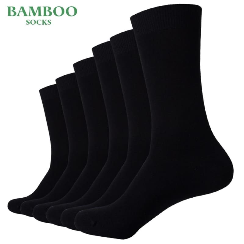 Match-Up Men Bamboo Black Socks Breathable Anti-Bacterial High Quality Guarantee Business Socks (6 - My Web Store Shopping