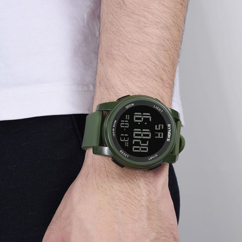 Men Silica gel band Military watch Men's Multi Function Military Sport Watch LED Digital Dual - My Web Store Shopping