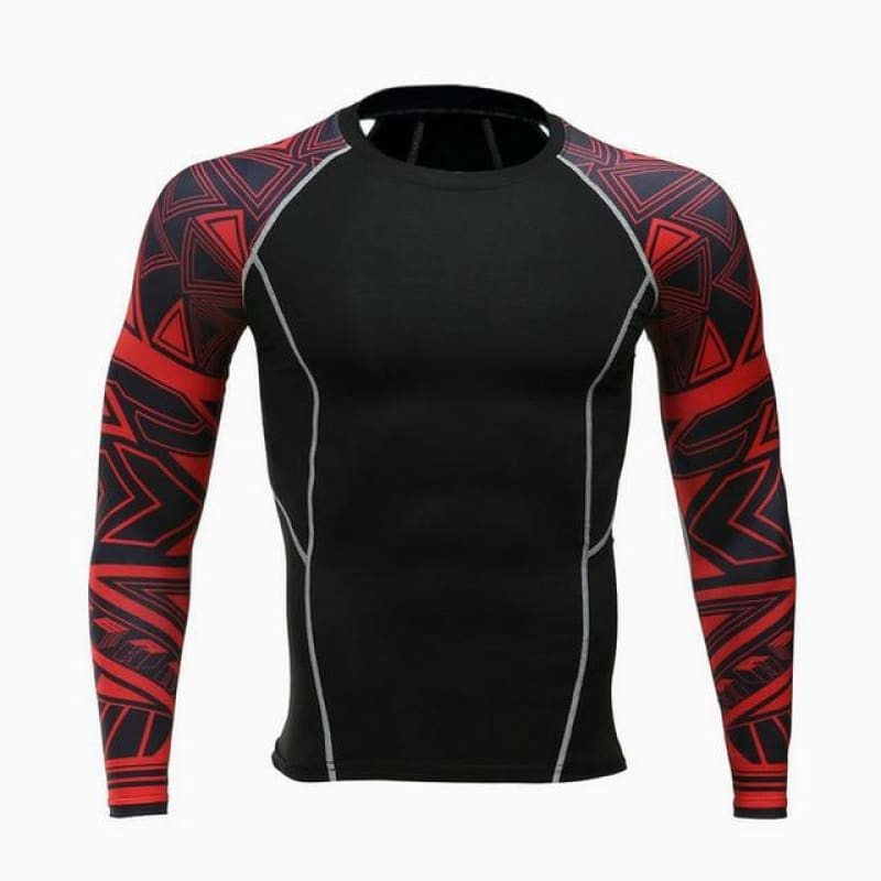 Mens Fitness Long Sleeves Rashguard T Shirt Men Running Bodybuilding Skin Tight Thermal Compression - My Web Store Shopping