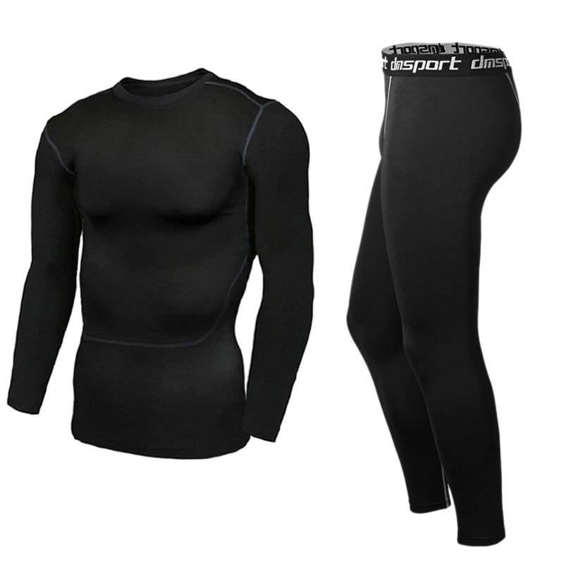 Mens Running Sports Suits Tops Pant Fitness Basketball Men Compression Leggings Base Layers Tee - My Web Store Shopping