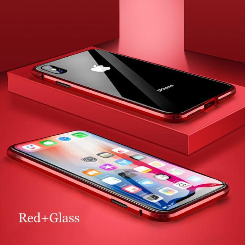 Load image into Gallery viewer, Metal Magnetic Case For iPhone 11 Pro Max XR XS Max X 7 8 6 6S Plus Double Side Tempered Glass - My Web Store Shopping