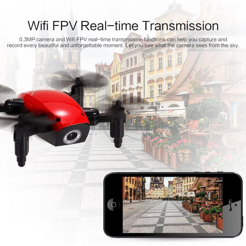 Mini Drone S9W 2.4G 4CH 0.3MP Camera WIFI FPV /No Camera Altitude Hold Flight Planning Remote Toys - My Web Store Shopping