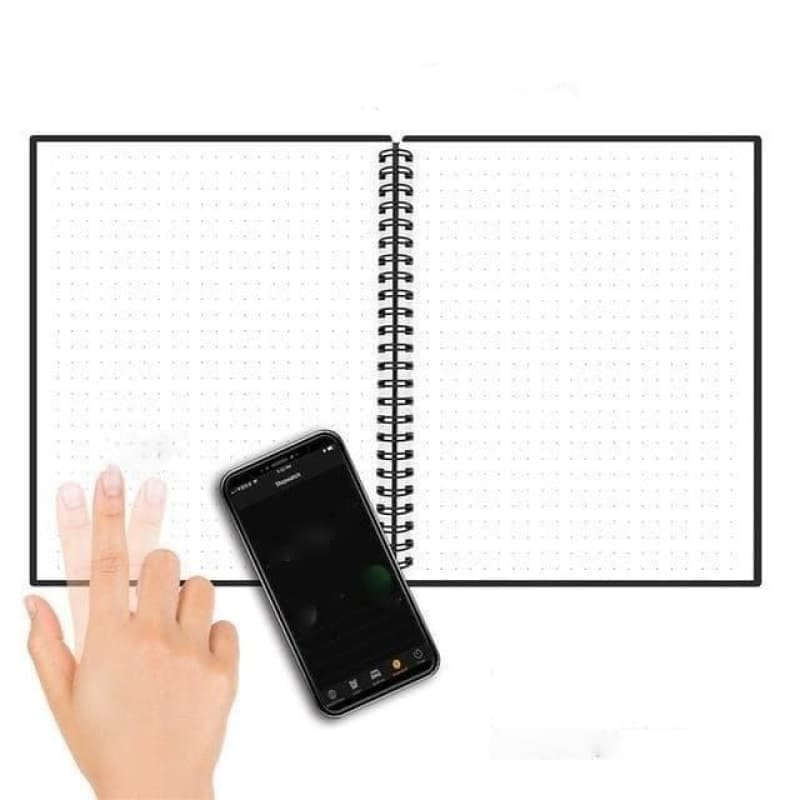 A6 size Smart Reusable Erasable Notebook Microwave Wave Cloud Erase Notepad Note Pad Lined With Pen - My Web Store Shopping