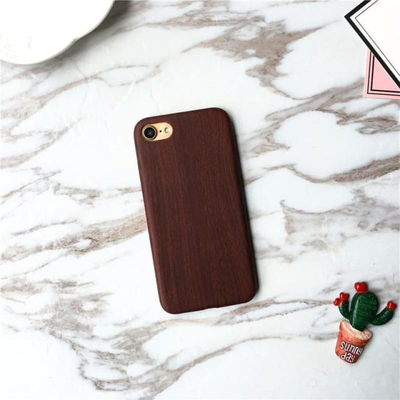 Natural Wooden Grain Soft Case For iPhone 6 6s 6plus 6splus 7 7plus 8 8plus X Cover Leather TPU Wood - My Web Store Shopping