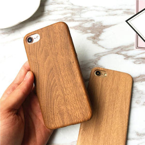 Load image into Gallery viewer, Natural Wooden Grain Soft Case For iPhone 6 6s 6plus 6splus 7 7plus 8 8plus X Cover Leather TPU Wood - My Web Store Shopping