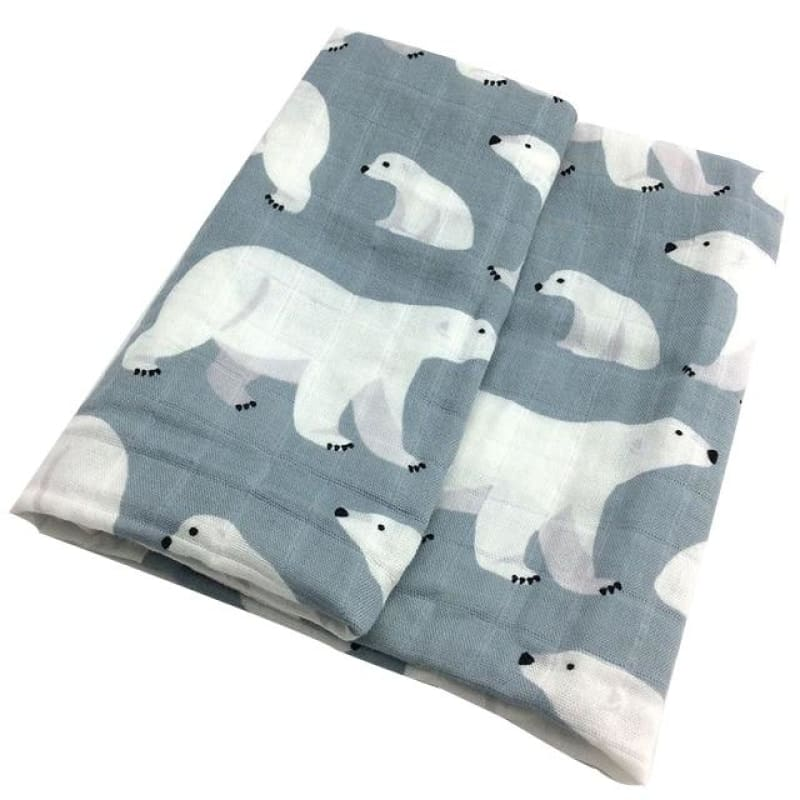 Load image into Gallery viewer, New Cotton Baby Blankets Newborn Soft Organic Cotton Baby Blanket Muslin Swaddle Wrap Feeding Burp - My Web Store Shopping