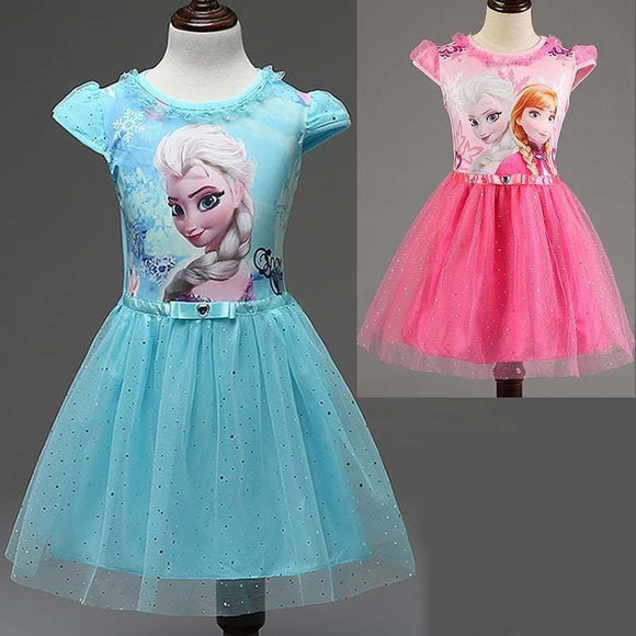 New Summer children's clothing girls dresses elsa princess dress for girl infant kids costume party baby snow Queen baby clothes - My Web Store Shopping