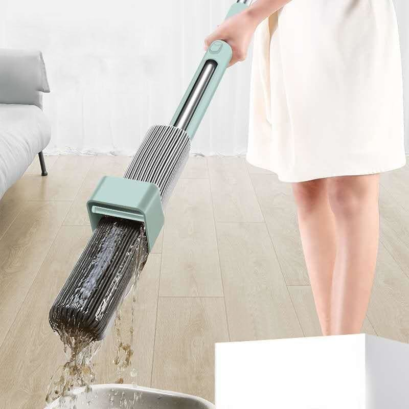 Non Hand Washing Flat Mop Rotating Head Magic Mop Strong Water Absorption Floor Cleaner - My Web Store Shopping