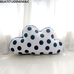 Nordic Style Black & White Simple Cloud Plush Pillow,House Home Sofa Bedroom Bay Window Pillow - My Web Store Shopping