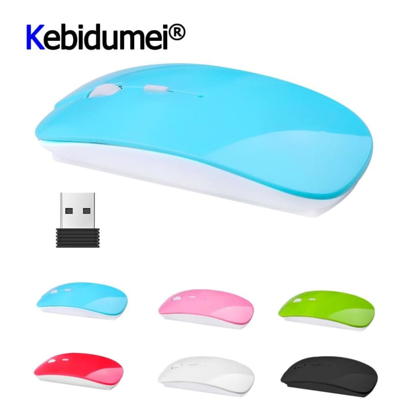 Optical USB Wireless Mouse 2.4Ghz Receiver Latest Super Slim Thin Mouse Gaming For Macbook Mac - My Web Store Shopping