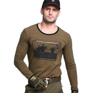 Load image into Gallery viewer, Outdoor Tactical Men T-shirts  Military Comfortable Cotton Camping Climbing Sports T-Shirts Army Long Sleeve  Breathable T-Shirt - My Web Store Shopping