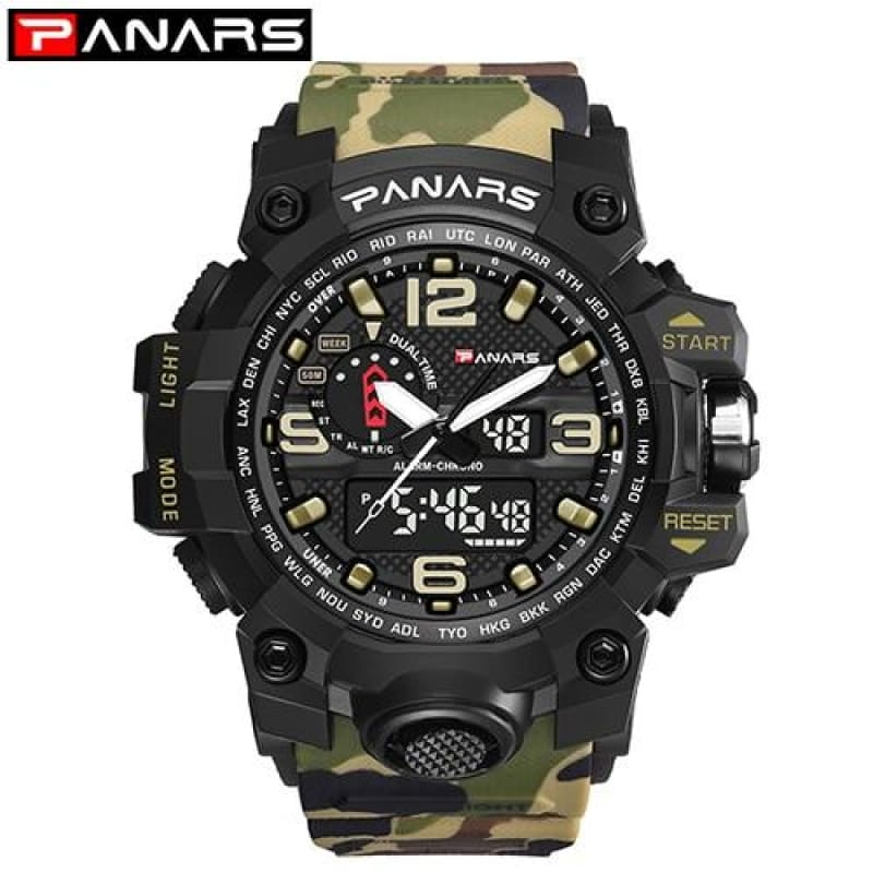 Load image into Gallery viewer, Camouflage Military Digital-Watch Men's G Style Fashion Shock Sports Army Watch LED Electronic Wrist Watches For Men 8202 - My Web Store Shopping