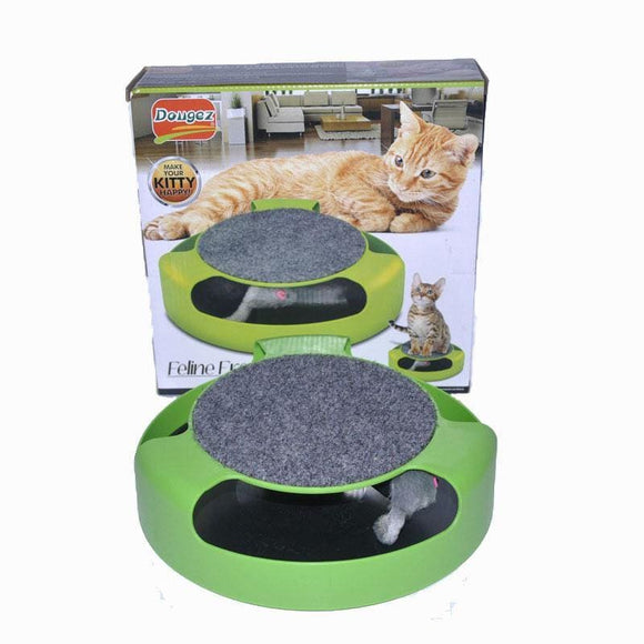 Pet Cat Toys Training Mice Plastic Rotating Running Mouse Game Board Funny Cat Dog Interactive Toy Intelligence Plate Turntable - My Web Store Shopping