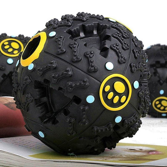 Pet Dog Squeaky Toys S M L Big Dog Toy Pet Dog Voice Sound Ball Toy Feeding Food Ball Pet Toy Ball Lovely Black Color - My Web Store Shopping