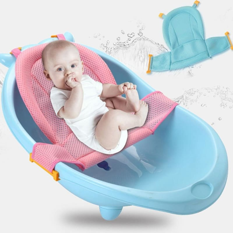 Portable Baby Shower Bath Tub Pad Baby Bath Seat Support Mat Foldable Baby Bath Tub Pads Infant - My Web Store Shopping
