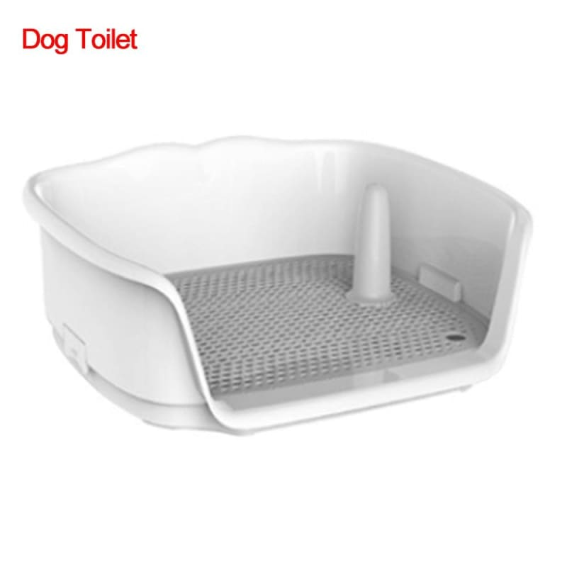 Portable Dog Toilet Cat Dog Automatic Potty with Column Urinal Bowl Pee Training Toilet Lavatory - My Web Store Shopping