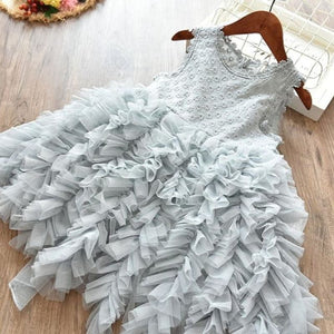Load image into Gallery viewer, Princess Dress Lace Flower Clothing Fluffy Baby Girl Clothes Cake Smash Ball Gown Children Party - My Web Store Shopping
