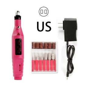 Load image into Gallery viewer, Professional Electric Manicure Machine Pen Nail Drill Bit Kit Milling Cutters Nail Art Cuticle Gel - My Web Store Shopping