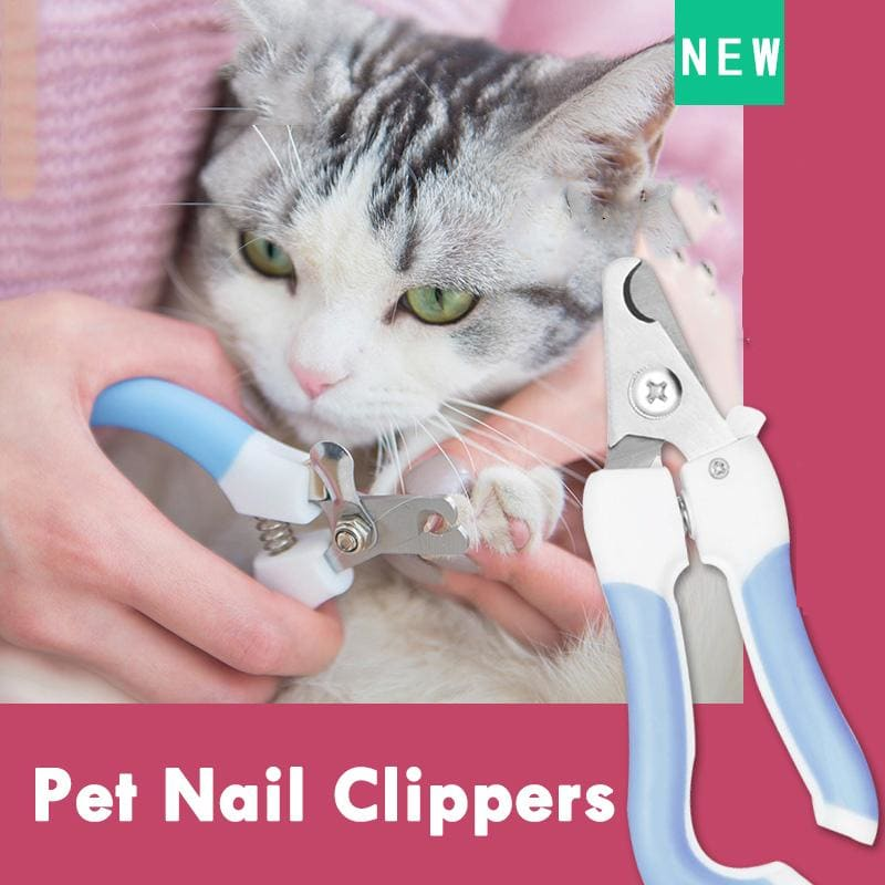 Cat Dog Nail Clipper Cutter Stainless Steel Grooming Scissors Clippers Claw Nail Scissors with Lock - My Web Store Shopping