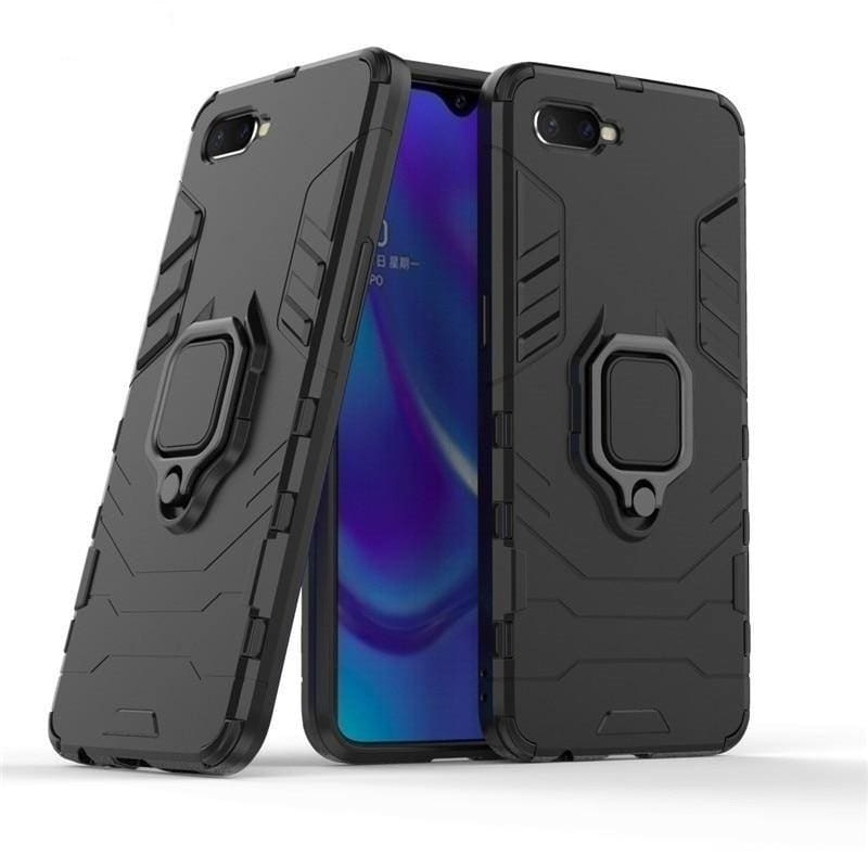 Ring Holder Case For OPPO Find X2 RX17 Neo K3 A1K Reno2 Z 10X Zoom Phone Bumper Cover For Realme X50 5 6 Pro XT X2 C3 C2 3 X Q - My Web Store Shopping