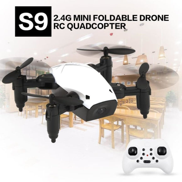 S9 2.4G Mini Foldable Drone 360 Degree Flip One-Key Return Headless Mode H/L Speed Switch RC - My Web Store Shopping