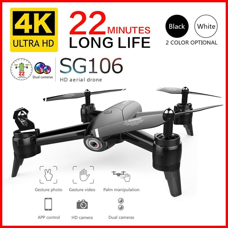 HD Drone with Dual Camera 1080P /4K WiFi FPV Real Time Aerial Video Wide Angle - My Web Store Shopping