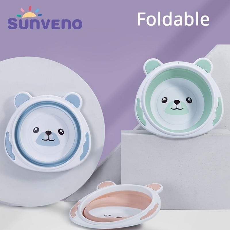 Baby Portable Washbasin Baby Bath Tub Folding Washbasin Newborn Infant Face Foot Butt Wash Basin - My Web Store Shopping